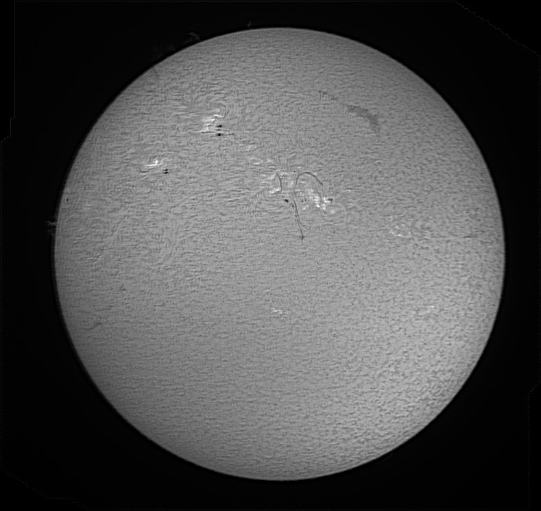 Full solar disk produced by Registax